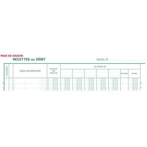 Boekhoudregister kas/bankboek 33 lijn gebonden FR. Exacompta