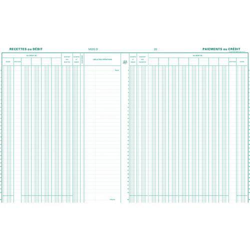 Register kas/bankboek 9 deb.5 cred. 33 lijnen- FR. Exacompta