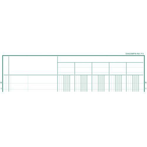 Register 32x19,5 cm 5 kolommen op 1 pagina 31 lijnen 80 blad
