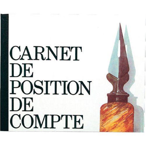 Rekeningoverzicht boek 16x19,5cm 40 blad Exacompta