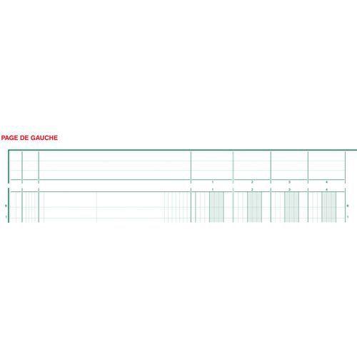 Register uitgesneden hoofd 13 koloms op 2 pagina's Exacompta