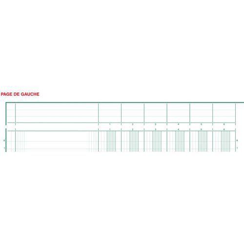 Register uitgesneden hoofd 16 koloms op 2 pagina's Exacompta
