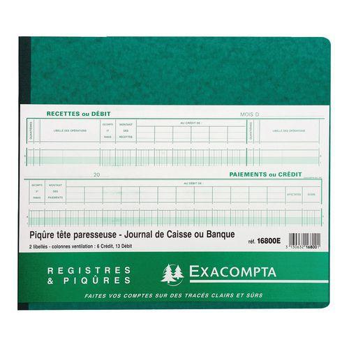 Register voor kas of bank met uitgekapte hoofding 27x32 cm