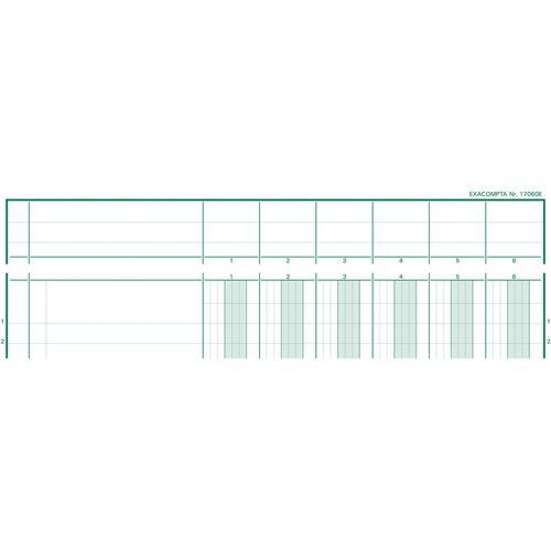 Register uitgesneden hoofd 6 koloms op 1 pagina Exacompta