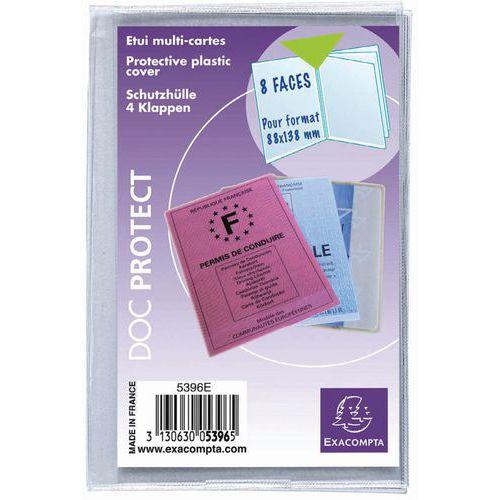 Multikaart beschermhoes 10 st. 4 klep glad pvc 20/100 88x138