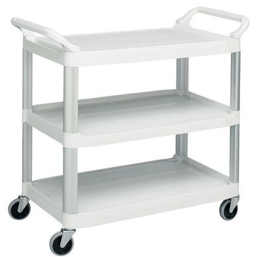 Kunststof etagewagen met 3 legborden - Draagvermogen 135 kg