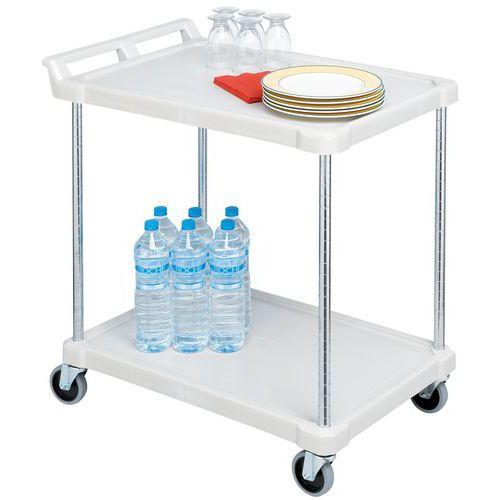 Etagewagen in kunststof - 2 legborden - Draagvermogen 180 kg