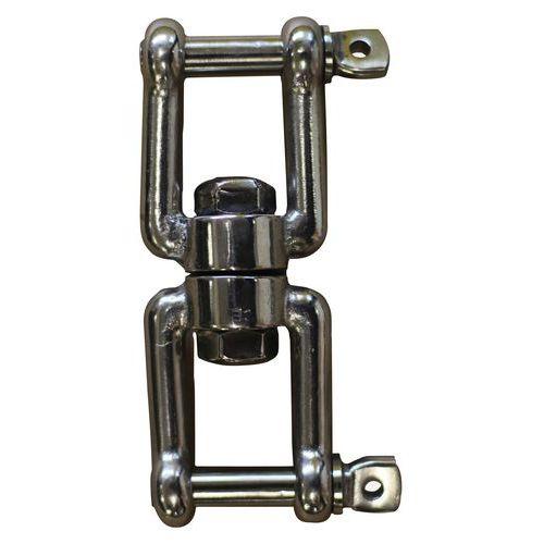 Wartel van roestvrij staal AISI 316 - 2 harpsluitingen
