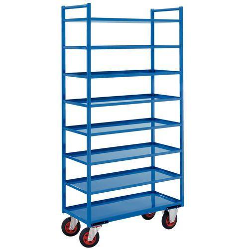 Metalen etagewagen - 8 legborden - Draagvermogen 400 kg