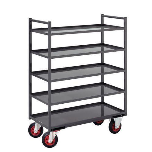 Metalen etagewagen - 5 legborden - Draagvermogen 400 kg