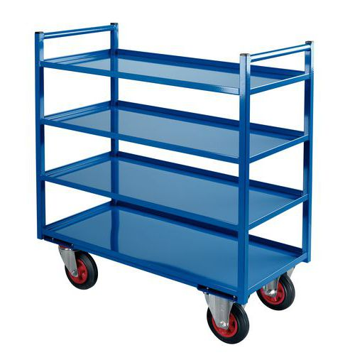 Metalen etagewagen - 4 legborden - Draagvermogen 400 kg