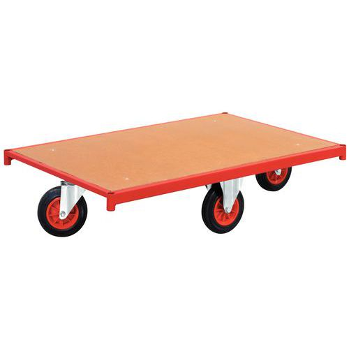 Dolly hout met wielen – Ruitvorm – Draagvermogen 500kg