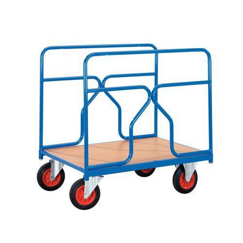 Plateauwagen - Draagvermogen 500 kg - 2 zijpanelen