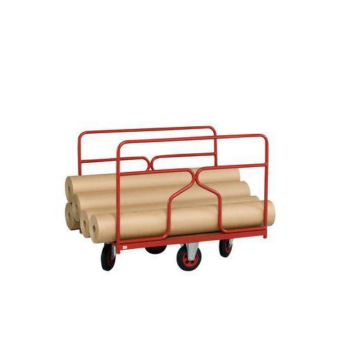 Plateauwagen met wielen in ruitvorm - Draagvermogen 500 kg - 2 zijpanelen