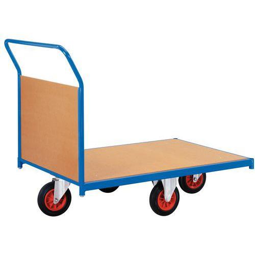 Plateauwagen met houten wanden en wielen in ruitvorm - Draagvermogen 500 kg - 1 rug