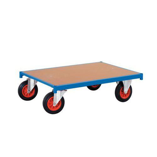 Dolly hout met wielen – Rechthoekig – Draagvermogen 500kg