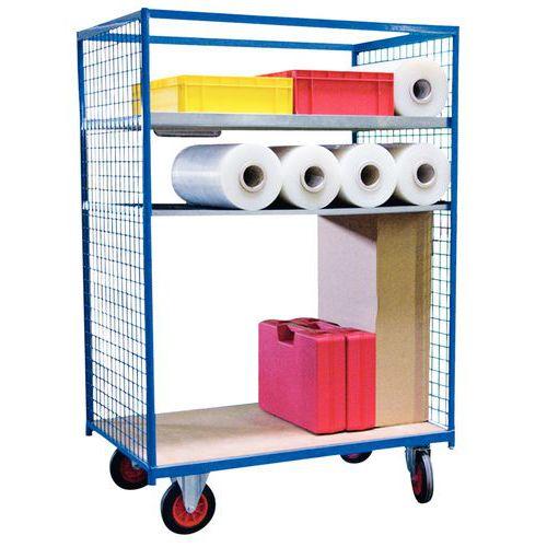 Pakketwagen - 2 rasterwanden - Draagvermogen 500 kg