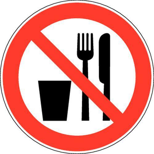 Citaten Eten En Drinken : Verbodsbord verboden te eten en drinken zelfklevend