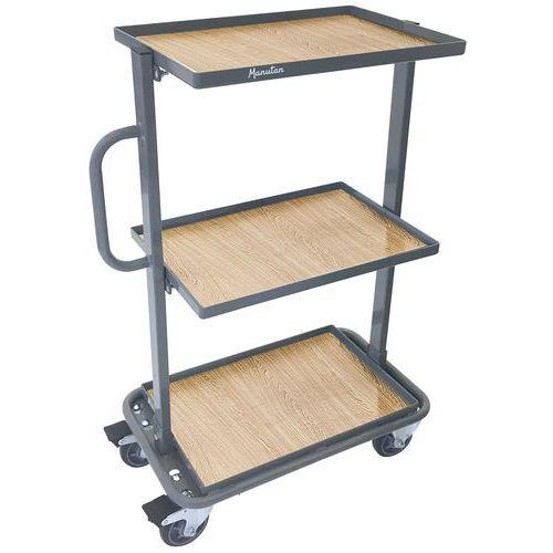 Stalen bakkenwagen - Draagvermogen 200 kg - Manutan