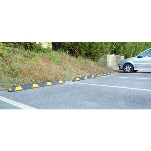 Parkeerstootrand Viso - Gerecycled rubber
