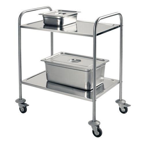 Serveerwagen - 2 legborden - Draagvermogen 60 kg