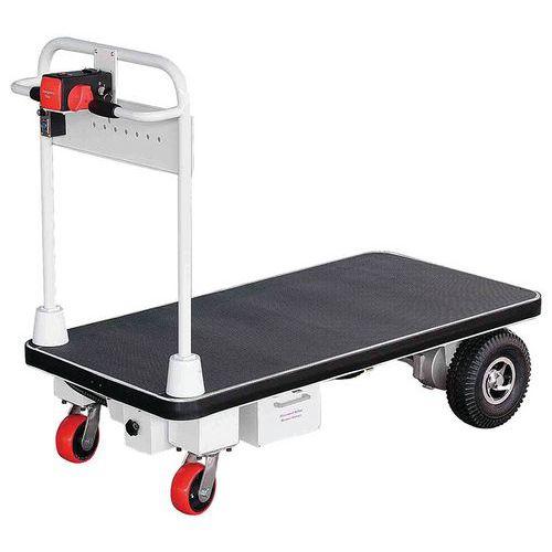 Elektrische wagen met vaste duwbeugel - Laadvermogen 500kg