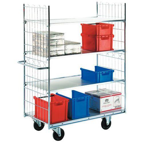 Etagewagen met gemelamineerde legborden - 4 legborden - Draagvermogen 300 kg