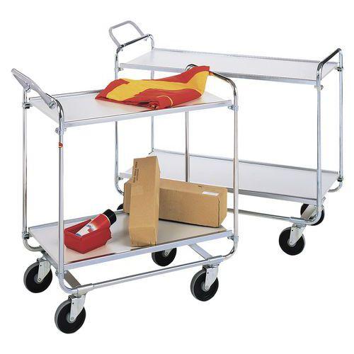 Etagewagen met houten legborden - 2 legborden - Draagvermogen 150 kg