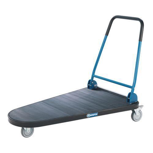 Plateauwagen met 3 wielen met neerklapbare duwbeugel - Draagvermogen 300 kg