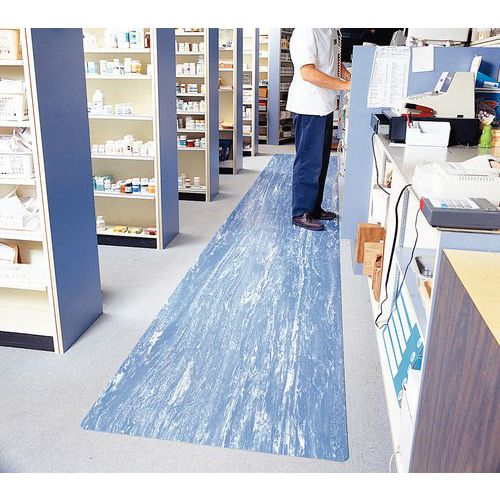 Ergonomische antivermoeidheidsmat voor intensief gebruik - In tapijtvorm