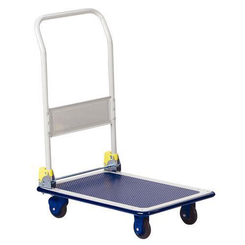 Metalen plateauwagen met neerklapbare rug - Draagvermogen 150 kg
