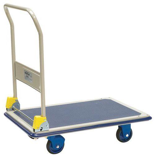 Metalen plateauwagen met neerklapbare rug - Draagvermogen 300 kg