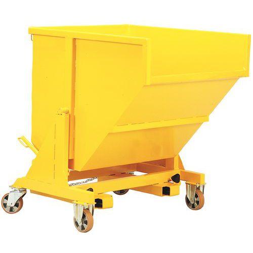 GIE zelfkantelende kiepcontainer op centrale as - Op wielen