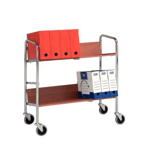 Ordnertrolley - 2 legborden - Draagvermogen 75 kg