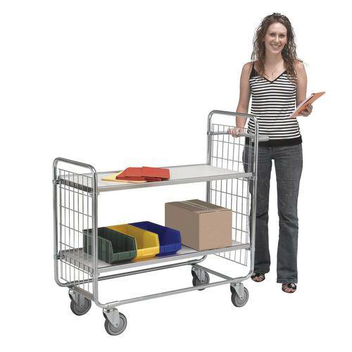 Etagewagen met houten legborden - 2 legborden - Draagvermogen 200 kg