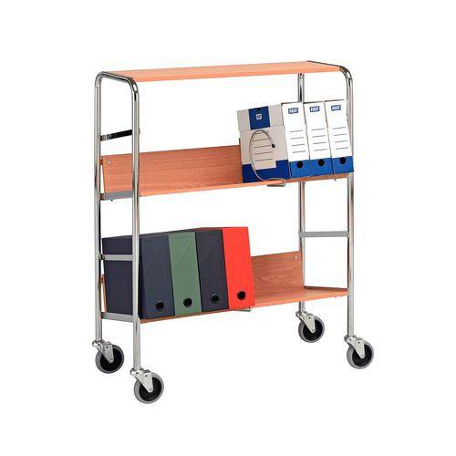 Ordnertrolley - 3 legborden - Draagvermogen 75 kg