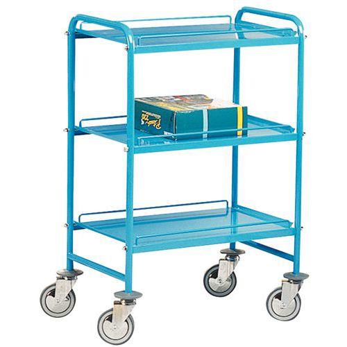 Transportwagen met metalen legborden - 3 legborden - Draagvermogen 150 kg