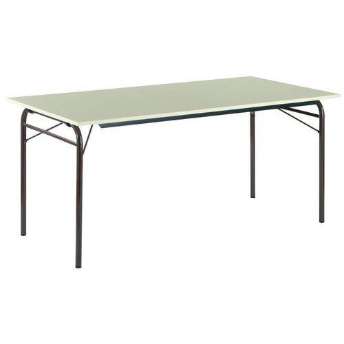 Rechthoekige opklapbare tafel buizen onderstel manutan for Opklapbare tafel