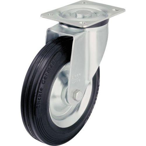 Zwenkwiel met grondplaat - Draagvermogen 50 tot 295 kg