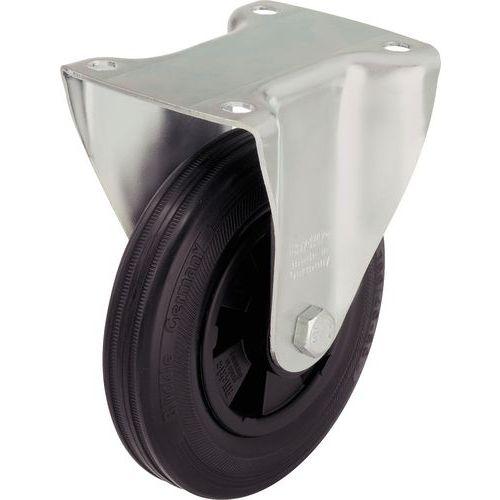 Afbeelding van Bokwiel met grondplaat - Draagvermogen 50 tot 295 kg - Zwart