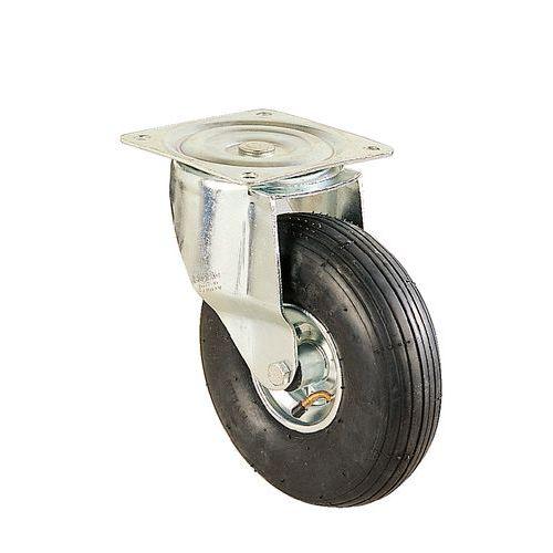 Zwenkwiel met grondplaat - Draagvermogen 75 tot 250 kg