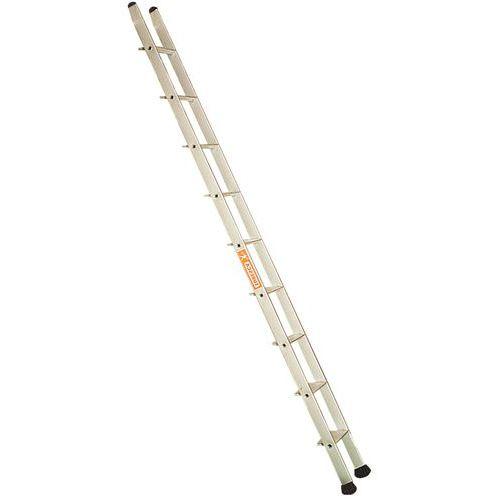 Enkelvoudige ladder met treden voor stellingen