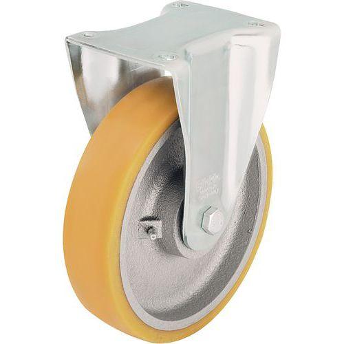 Bokwiel met grondplaat - Draagvermogen 350 tot 900 kg