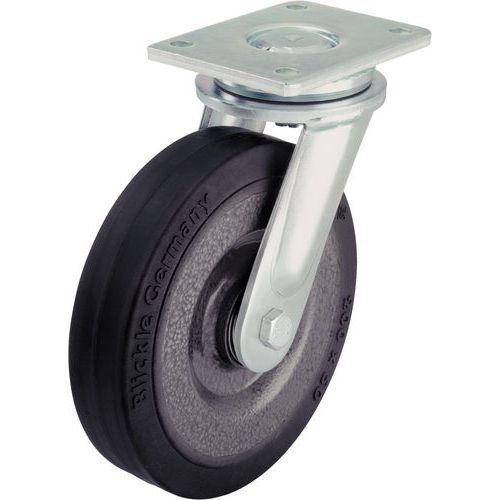 Zwenkwiel met grondplaat - Draagvermogen 180 tot 1150 kg