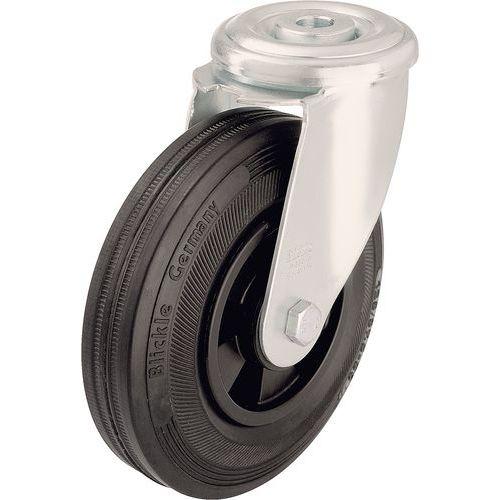 Zwenkwiel met boutgat - Draagvermogen 50 tot 205 kg - Zwart