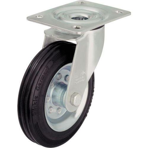 Zwenkwiel met grondplaat - Draagvermogen 50 tot 205 kg