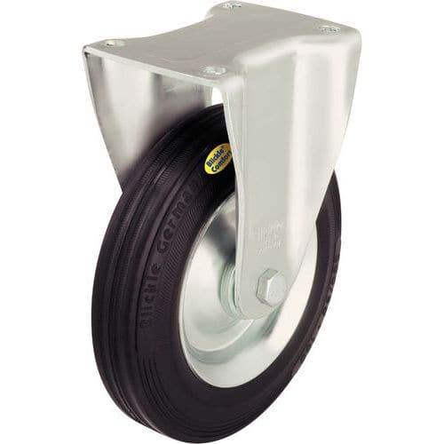 Bokwiel met grondplaat - Draagvermogen 100 tot 350 kg