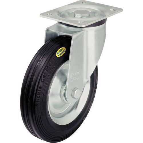 Zwenkwiel met grondplaat - Draagvermogen 100 tot 600 kg