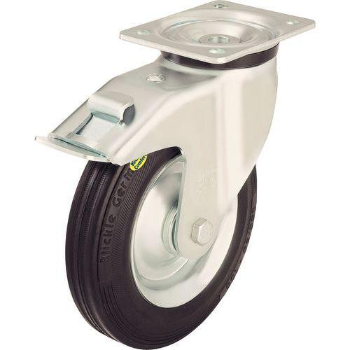 Zwenkwiel met grondplaat geremd - Draagvermogen 100 tot 350 kg