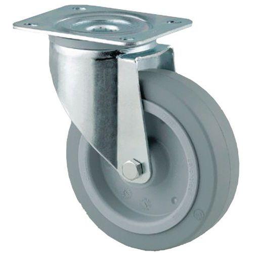 Zwenkwiel met grondplaat - Draagvermogen 150 tot 400 kg